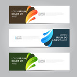 Vector abstract design banner web template. - 209422111