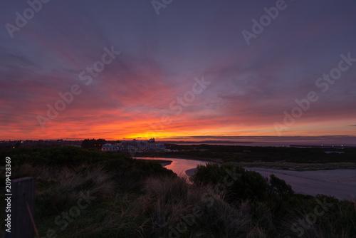 Fotobehang Zwart Sunrise over Warrnambool
