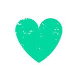 Grunge heart logo icon - 209432142