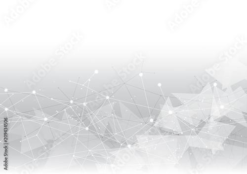 tło abstrakcyjna wielokąt danych technologii komunikacji wektor projektowania ilustracji