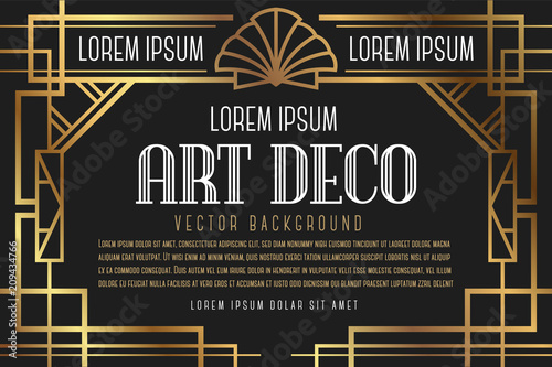 Luxury Vintage Artdeco Frame Design Vector Illustration Buy