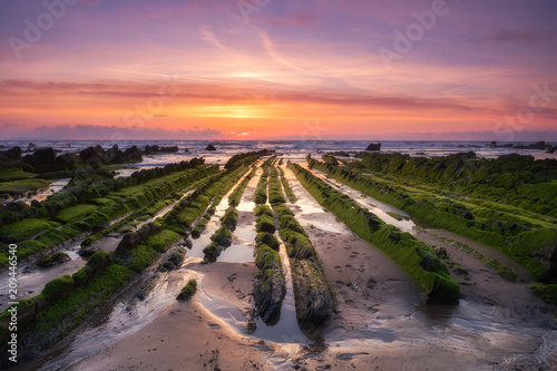 beautiful barrika beach located at Basque Country