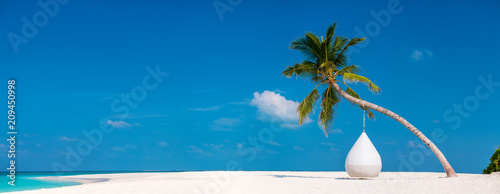 Beautiful tropical beach at Maldives - 209450998