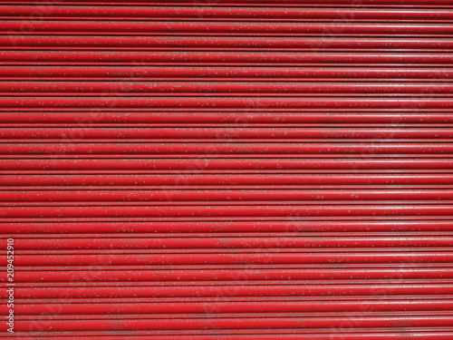 Foto Murales red steel metal texture background