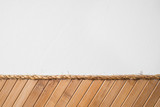 Texture of bamboo wall with white half