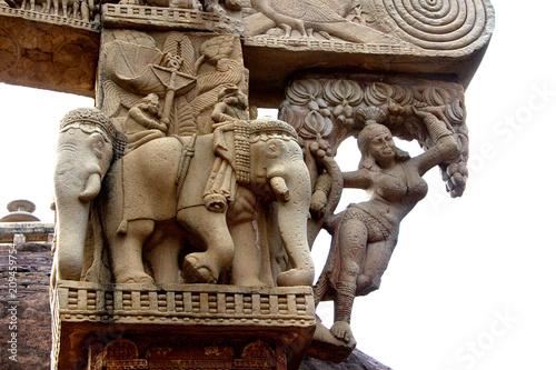 Foto Murales Carving on Gateway of Stupa, Sanchi