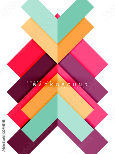 Multicolored abstract geometric shapes, geometry background for web banner © antishock