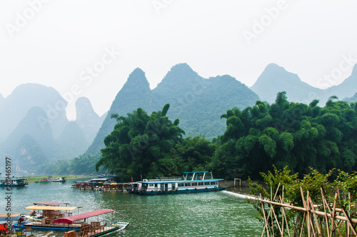 In de dag Guilin Carst mountains china