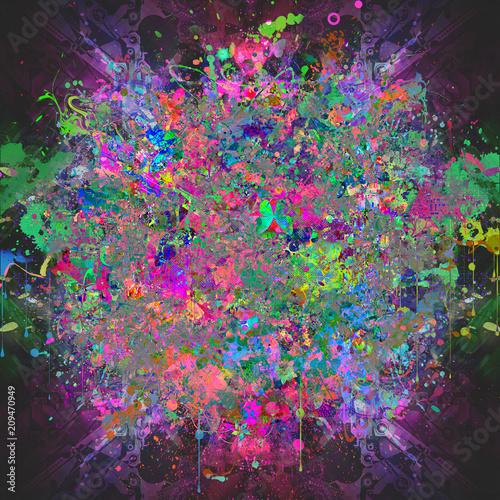 Canvas Reznik цветочный красочный фон