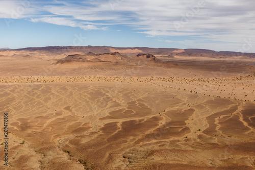 Fotobehang Marokko Sahara desert, desert landscape view from the top