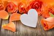 Leinwanddruck Bild - Dekoration  -   Herz und Rosen