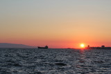 Turkey Aegean Sea: view from the city embankment of the cordon at sunset - 209492764
