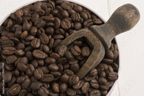 Fotobehang Koffiebonen Colombian coffee, traditional drink