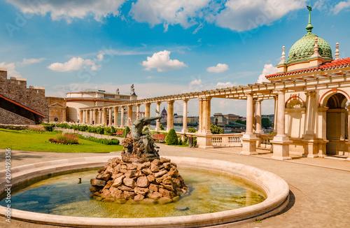 Dzielnicy Budy w lecie zielony Budapeszt, Węgry