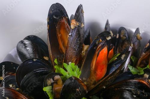 Fototapeta Tasty black mussels