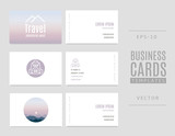 Template of travel business cards. Good for tourists, travel agents and tour operators.