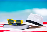 Relax and read a book on the beach concept.  Summer holiday concept.
