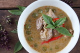 green curry with pork in coconut milk thai food - 209508126