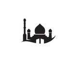 Mosque icon vector Illustration design template