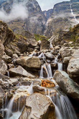 Waterfall in the Himalayas  - 209521192