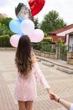 surprise made by beautiful young lady,Balloon Surprise Box - 209525192