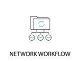 Network work flow icon ( blue version ) - 209527198