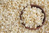 Tasty salted popcorn in bowl - 209528140