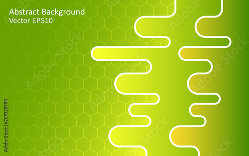 Canvas Abstractie Art Green abstract vector background