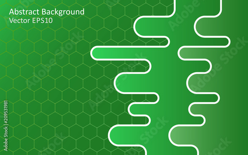Canvas Abstractie Art Emerald green abstract vector background