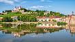 Leinwanddruck Bild - Festung Marienberg in Würzburg am Main