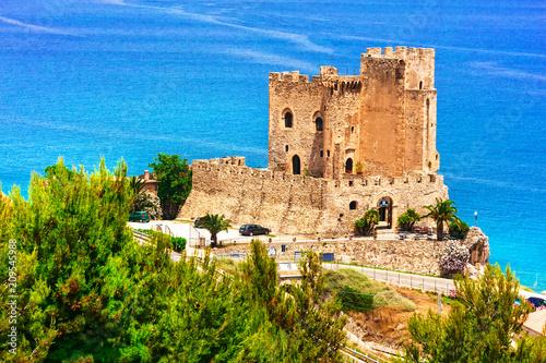 Plexiglas Freesurf beautiful sea and castles of Italy - Roseto Capo Spulico in Calabria