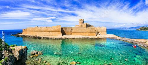 Plexiglas Freesurf Le Castella .Isola di Capo Rizzuto - beautiful medieval castle in the sea. Calabria, Italy