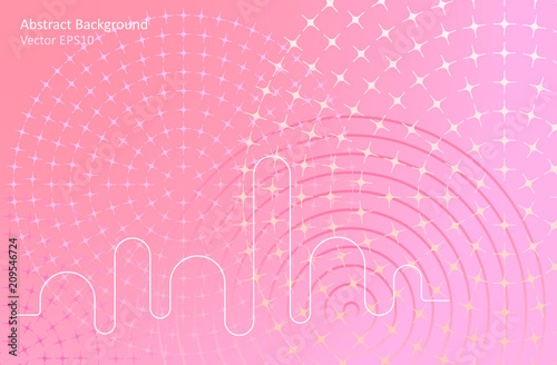 Canvas Abstractie Art Soft pink abstract vector background
