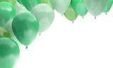 ballons fête anniversaire célébration verts - 209549943