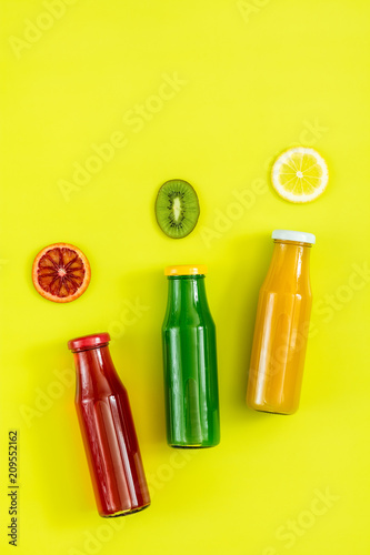 Fotobehang Sap Beautiful food art background with juice and fruits