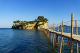 Cameo Island with footbridge on Zakynthos, Greece - 209565102