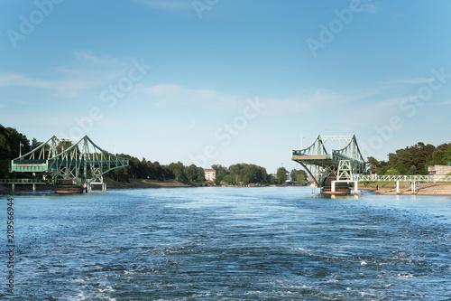 Most obrotowy w Lipawie, Łotwa.