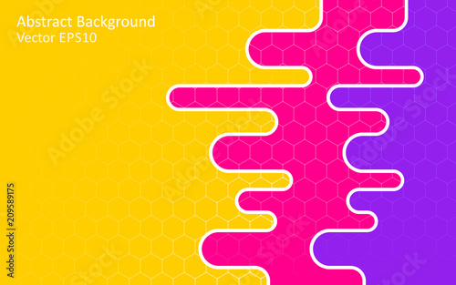 Canvas Abstractie Art Colorful abstract vector background, template design