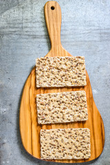 Crisp breadsnack. Healthy breakfast