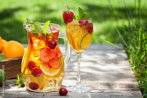 Homemade lemonade or sangria © karandaev