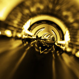 Modern abstract road tunnel