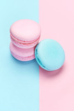 Sweets. Colorful Macaroons Background - 209595122