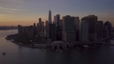 flying counter clockwise around downtown Manhattan at sunset - 209595718