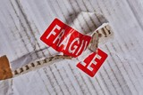 Fragile stamp closeup - 209598118
