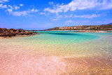 Elafonissi beach with pink sand on Crete, Greece - 209600965