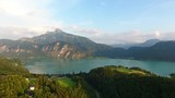 Schafberg and Lake Mondsee in Salzkammergut, Austria - 209602748
