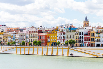views to Triana neighborhood at Seville, Spain