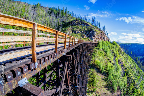 Plakat Historic Trestle Bridge at Myra Canyon in Kelowna, Canada