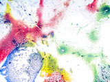 chemical experiment with paints