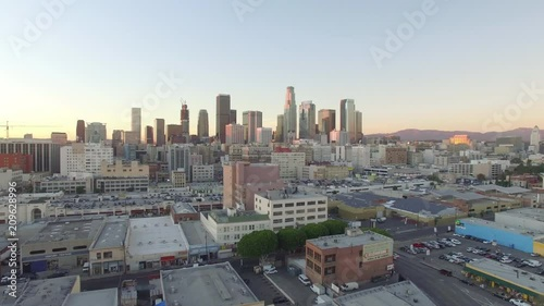 Dolly Left View of Downtown Los Angeles